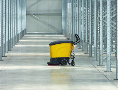45380692 Walk Behind Scrubber Machine For Cleaning Warehouse Floor